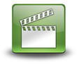"Green 3D Effect Icon ""Clapperboard"""