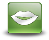 "Green 3D Effect Icon ""Mouth / Lips Symbol"""