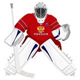Team Russian hockey goalie poster