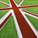 Fototapety UK Olympics track flag