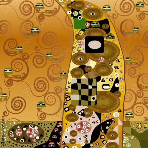 Obraz na Szkle modernes gold