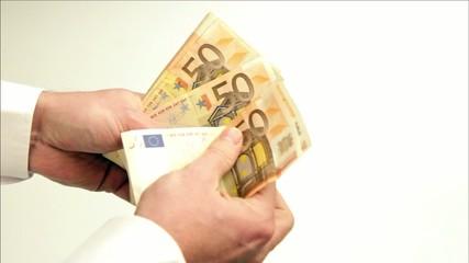 mann zählt 1000 Euro - man count 1000 Euro