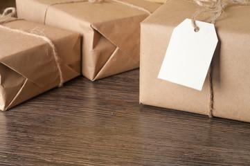 pile parcel wrapped