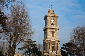 Clock tower in dolmabahce palace in istanbul 4