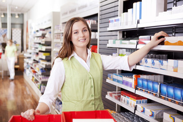 Pharmacist Looking For Medicine