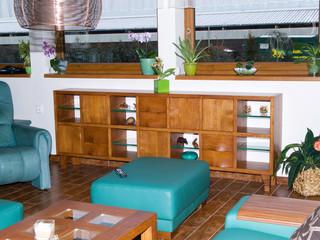 Wooden cabinet in living room