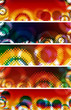 grunge style colorful halftone banner set