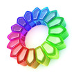3D Colour glass wheel - Rainbow 2