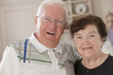 Portrait of a couple elder smiling
