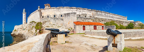 Panoramic view of the castle of El Morro in Havana