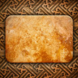 marble tablet on wood background