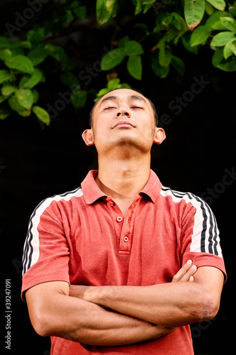 healthy ethnic young man portrait