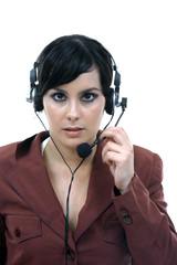 Young woman callcenter