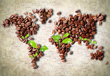 Fotoroleta Coffee around the world