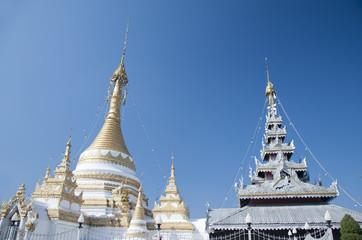 Thai temple in maehongson  province, Thailand