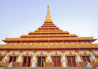 Thai temple in khonkaen province, Thailand