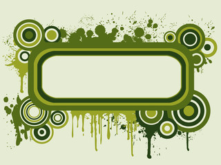 Background with green circles to write a message