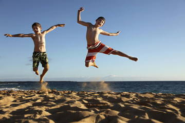 jump at the beach