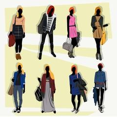 London fashion street model spring 1