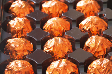 orange chocolate in box