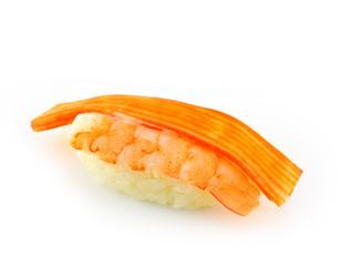 sushi macro on white background
