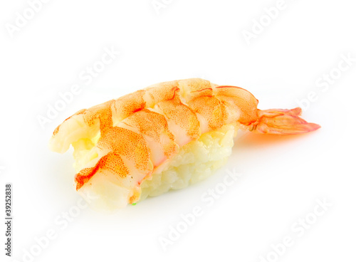 sushi macro on white background