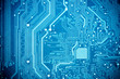 blue circuit board