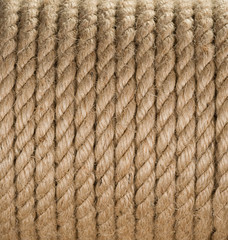 ship ropes sack as background