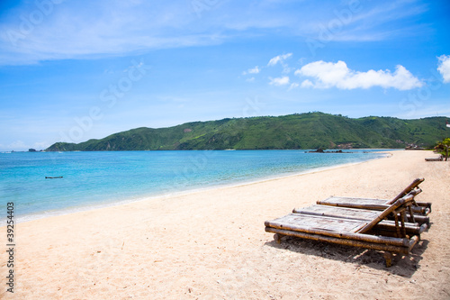 Foto op Plexiglas Indonesië Kuta sand beach, Lombok, Indonesia