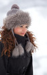 Elegant woman outdoor in winter