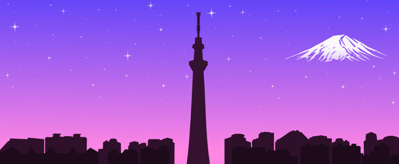 Tokyo Sky Tree , the new symbol of Tokyo,vector file