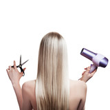 Fototapety Blonde hair and hairdresser's tools