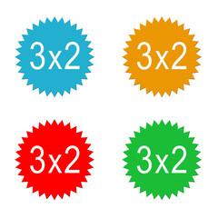 Etiquetas para descuentos 3x2