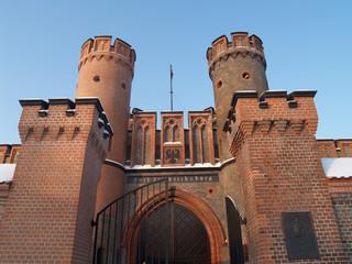 Калининград. Фридрихсбургские ворота, вид снизу