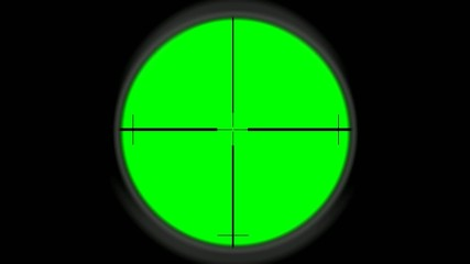 Sniper scope - greenscreen