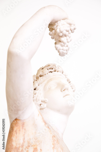 Statue with grapes