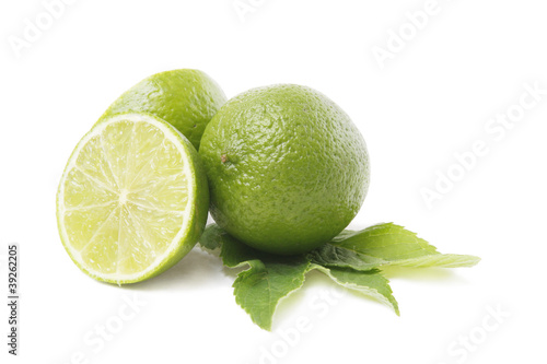 lime and mint leaves