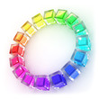 3D Colour glass wheel - Rainbow 3