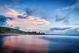 Fototapety Crépuscule sur littoral réunionnais