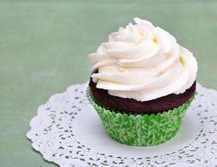 Cupcake on Green