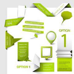 Set of Vector web elements
