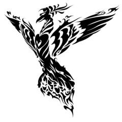 Blazing Bird Phoenix Tattoo