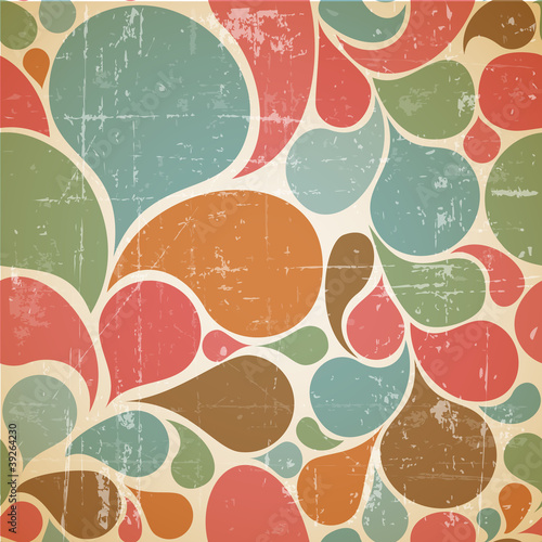 Vector Colorful abstract retro  pattern - 39264230