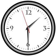 Uhr - Uhrzeit 1:30 am / pm