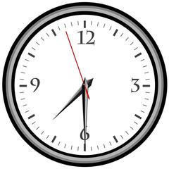 Uhr - Uhrzeit 7:30 am / pm