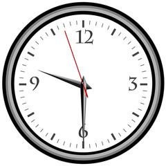 Uhr - Uhrzeit 9:30 am / pm