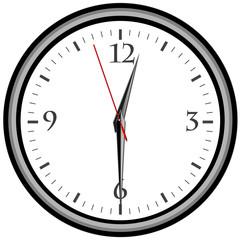 Uhr - Uhrzeit 12:30 am / pm