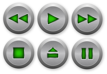 Control metal buttons for media player