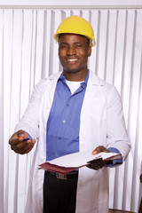 Portrait of friendly medical doctor