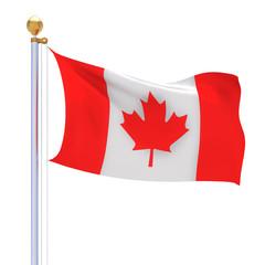 Canada flag 3d